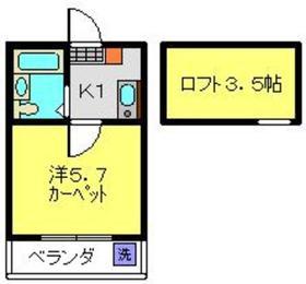 ヴィラ・ヤマナカⅡ2階Fの間取り画像