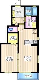 ブルーノ カーサ C棟1階Fの間取り画像
