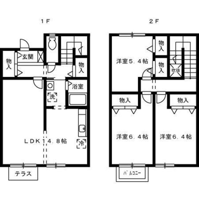 1-2階の間取り図
