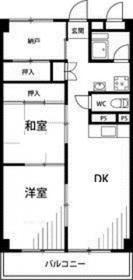 横山三ツ池マンション4階Fの間取り画像