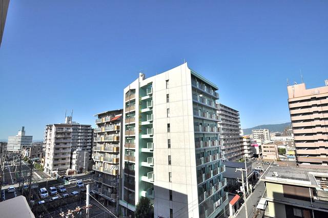 アンソレイユ菱屋西 この見晴らしが日当たりのイイお部屋を作ってます。