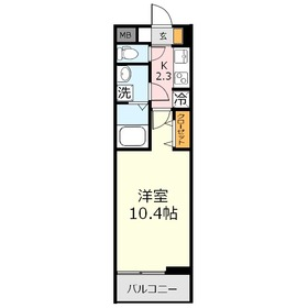 ルーモベルビ・ドゥ3階Fの間取り画像