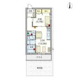(シニア限定)ジョワ ルミエール1階Fの間取り画像