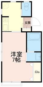 ハイツ恵2階Fの間取り画像