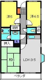 新川崎ロイヤルパレス2階Fの間取り画像