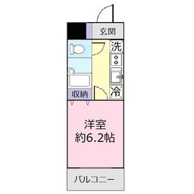 ドミール上福岡1階Fの間取り画像