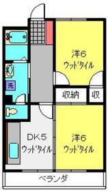 カンマルージュ4階Fの間取り画像