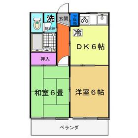 セプレール2階Fの間取り画像