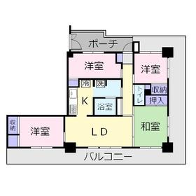 キャッスルメジェール藤久保4階Fの間取り画像