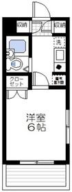 ロイヤルパレス川崎本町2階Fの間取り画像