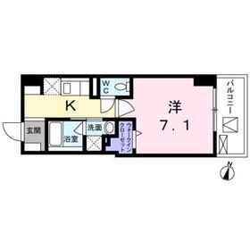 インテルノ芦花4階Fの間取り画像