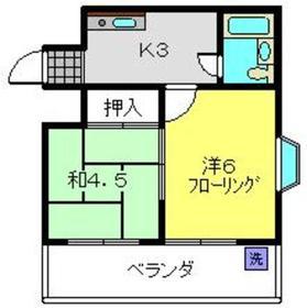 ハイツスズキ1階Fの間取り画像