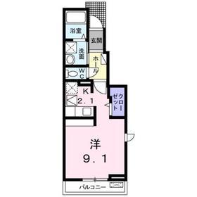 カーサ・セレーノⅡ1階Fの間取り画像