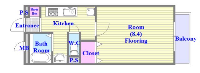 アリエッタ西堤 バストイレがセパレート、独立洗面所のある使い易い間取りです。