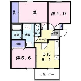 エンパス2階Fの間取り画像