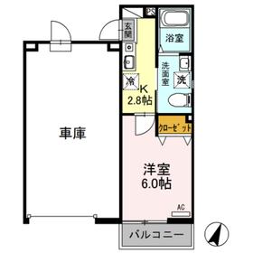 三郷中央キャスト壱番館1階Fの間取り画像