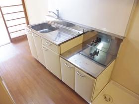 2口ガスコンロ設置可能なキッチンです。
