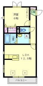 タウンライズ・コート3階Fの間取り画像