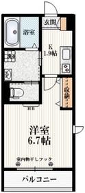 ルミエールM永福2階Fの間取り画像