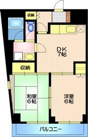 クレールメゾン並木3階Fの間取り画像