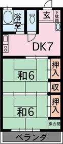 江津ハイツ1階Fの間取り画像
