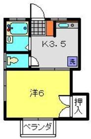 サニーウェル本宿Ⅱ1階Fの間取り画像