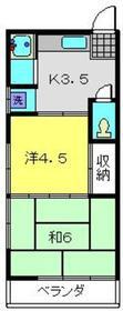 相沢アパート2階Fの間取り画像