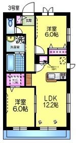 ラ ヴァリアンティ・リコー ペット共生2階Fの間取り画像