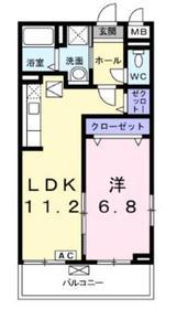 テラコッタⅡ3階Fの間取り画像