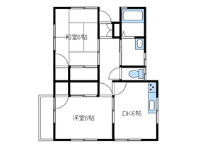菊池アパート2階Fの間取り画像