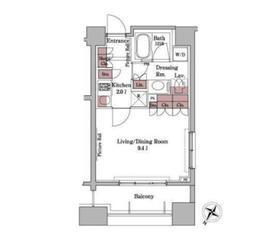 パークアクシス白金台9階Fの間取り画像