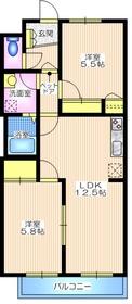 Tino宮崎台サウスコート1階Fの間取り画像