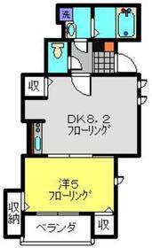 ホワイトプラターヌ1階Fの間取り画像