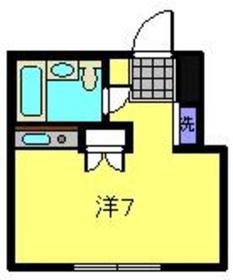シティハウスドルチェ1階Fの間取り画像