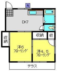 第3佐藤ハイツ1階Fの間取り画像