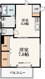 メゾン新中里2階Fの間取り画像
