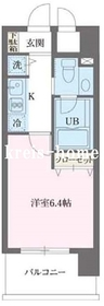 プライムアーバン早稲田7階Fの間取り画像