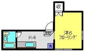 メゾンキュービック1階Fの間取り画像