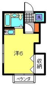 メゾン新丸子1階Fの間取り画像