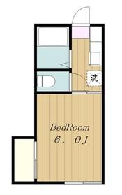コーポ若松Ⅱ2階Fの間取り画像