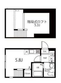 ハーミットクラブハウス横浜浅間台Ⅱ(仮)1階Fの間取り画像