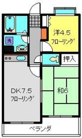 フェリックス新川崎3階Fの間取り画像