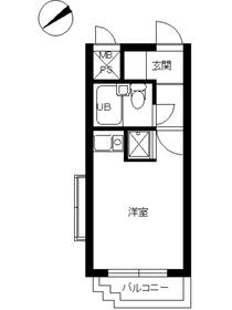 スカイコート横浜弘明寺3階Fの間取り画像