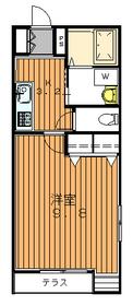 ローズマリーコート1階Fの間取り画像