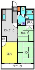 ガーデンビューアメヤ3階Fの間取り画像