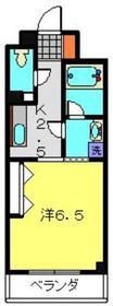 クレイドル片倉2階Fの間取り画像