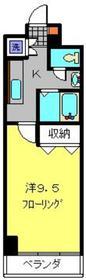 ヒルサイドミラ2階Fの間取り画像