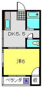 秀和ハイツ2階Fの間取り画像