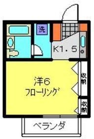 伊勢佐木長者町駅 徒歩10分2階Fの間取り画像