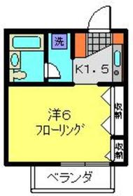 関内駅 徒歩15分2階Fの間取り画像